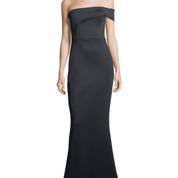 Black Halo Dresses | Strapless Neoprene Mermaid Evening Gown | Poshmark
